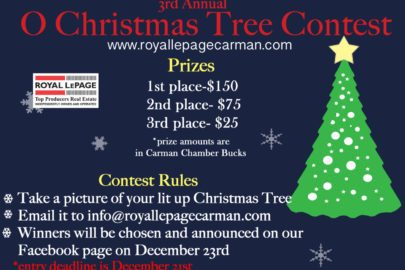 carman real estate, manitoba, christmas tree
