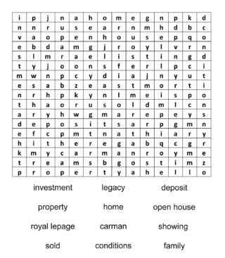 Complete the wordsearch Send us a message with a photo of your completed wordsearch by Saturday at noon and you'll be entered to win a Christmas gift basket. For extra entries... •tag some friends in this post •repost in your stories and tag us @royallepagelegacy