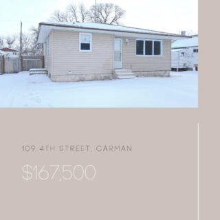 109 4th Street NW, Carman This is a great starter home or investment property!