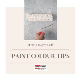 Getting ready to sell? You may want to consider covering up those dark or patchy walls! Choose light colours to help open up and brighten any space in your home. White and light gray are perfect options!