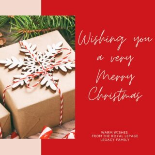 From all of us at Royal Lepage Legacy Realty, we wish you and your loved ones a very Merry Christmas. May you find rest and comfort in knowing what this season is truly about.