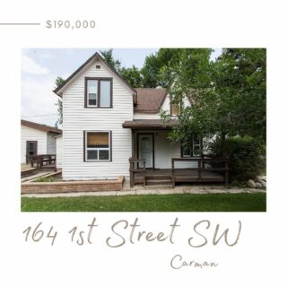 164 1st Street SW, Carman  1290 sq ft 3 bedrooms 1 bathroom  Conveniently located near shopping, schools, and more!