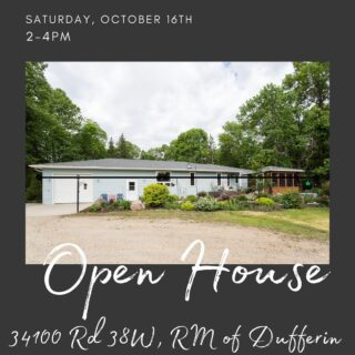 Come check out this beautiful country acreage today from 2-4pm!!   Text Kelly at 204-750-7700 for directions or more info!