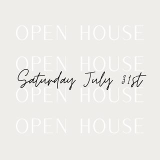 Check out the Open House lineup for this weekend!  Come by and check them all out!