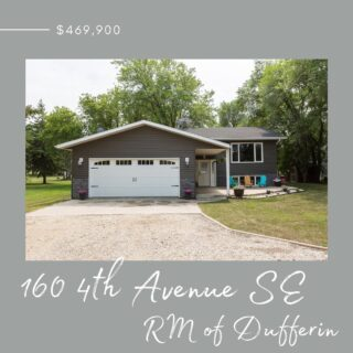 Just Listed!  **Open House-Saturday July 31 from 1-3pm** Very well kept home on the edge of Carman just 40 minutes to Winnipeg. This property consists of approximately an acre of space with good shelter all around. Located just steps from the high school, syls and mini golf.