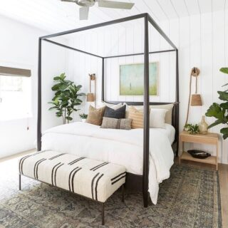 Are you taking some time to relax this long weekend?   This styled bed by @puresaltinteriors is beautiful.  Do you make your bed each morning or just get up & go?