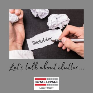 Let's talk about clutter.   We often hear about the adverse effects that clutter has on the resale value of your home.    Let's face it when our homes are free of clutter, we feel better.   Follow us for a De Clutter Challenge!   Every Monday, we will post a weekly challenge.   Take 15 minutes of your day to try and complete this task.  Once you have completed the weekly task, let us know!   Tag us or send us a picture.  #royallepagelegacy  Let's start with your junk drawer!  Start by emptying it and discarding everything that you do not wish to keep.  We are starting with the junk drawer because it usually takes less than 15 minutes to complete, so it will be an eye-opener on how you can finish something that seems so overwhelming in so little time.  Give it a try. It will be easier than you think to accomplish!
